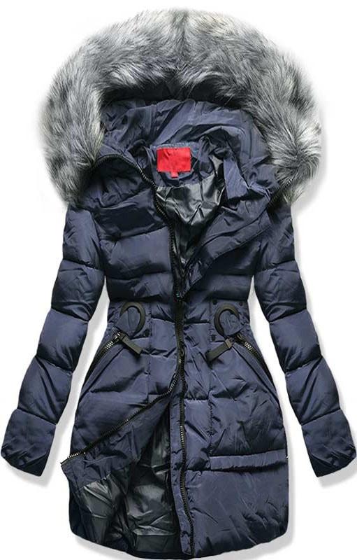 MODOVO Dámska zimná bunda s kapucňou 1807 modrá