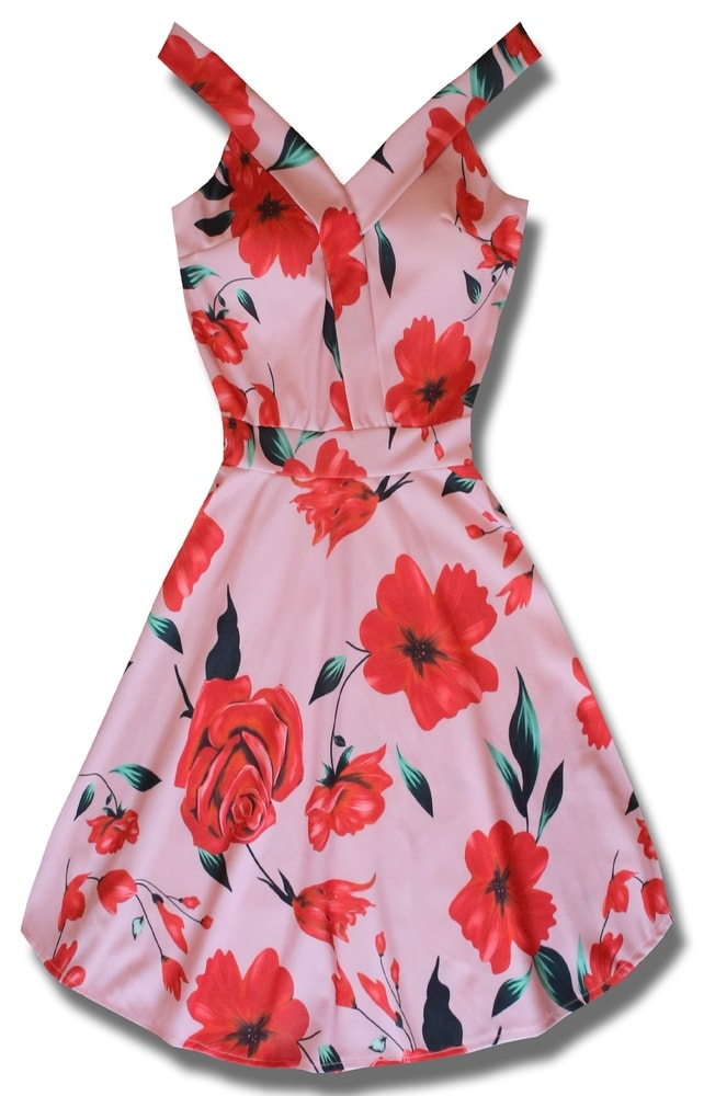 MODOVO Dámske šaty ružové