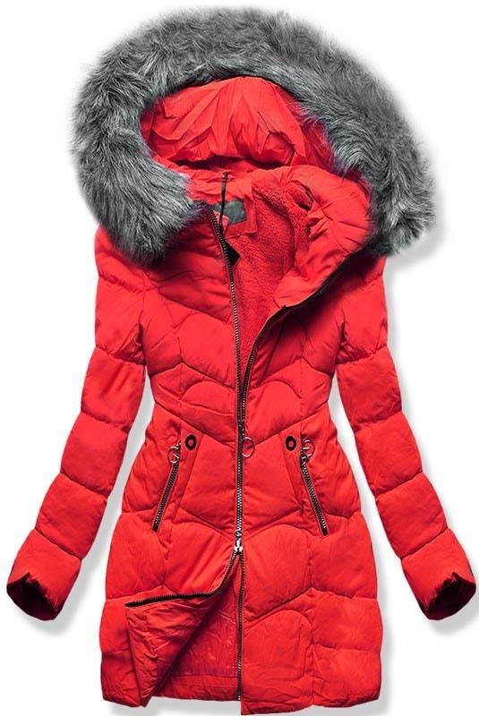 MODOVO Dámska zimná bunda B2643 červená