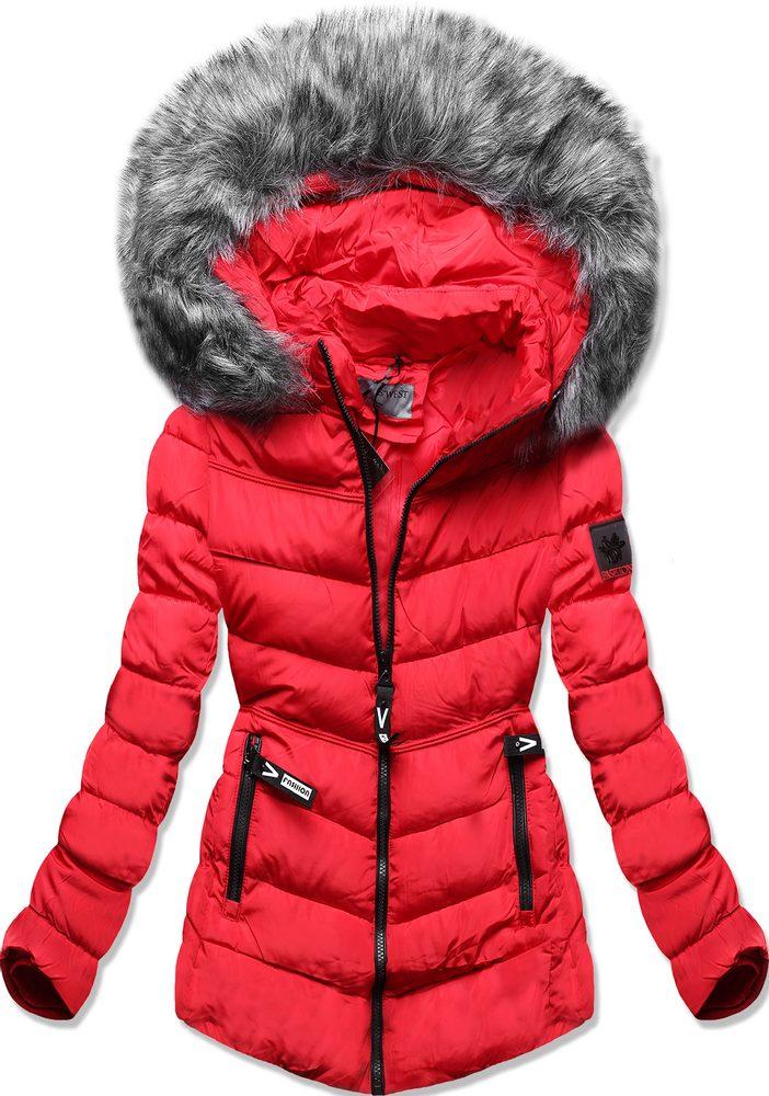 MODOVO Dámská zimní bunda červená - XXL