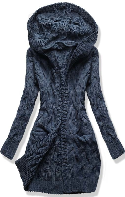MODOVO Dámsky sveter SWDK tmavo modrý