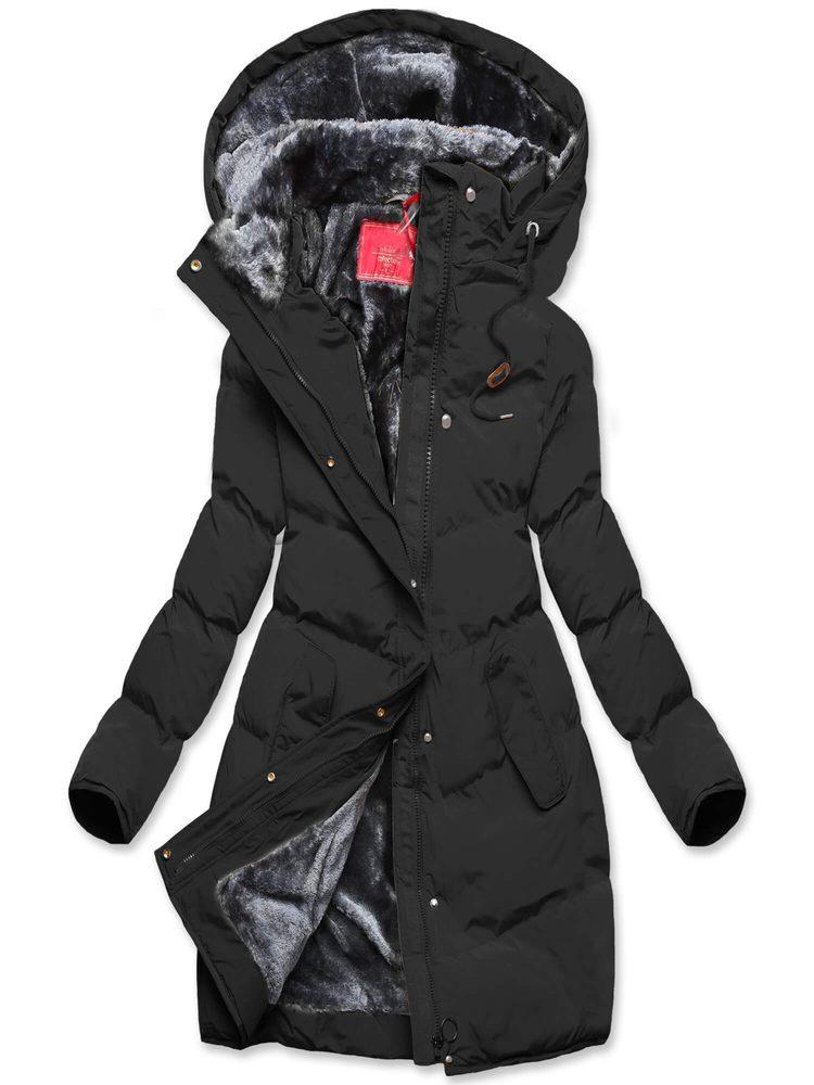 MODOVO Dámska zimná bunda čierna