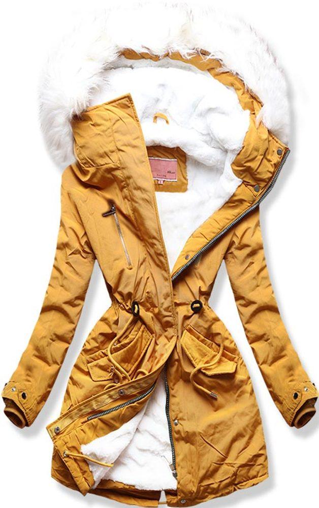 MODOVO Dámska zimná bunda žltá