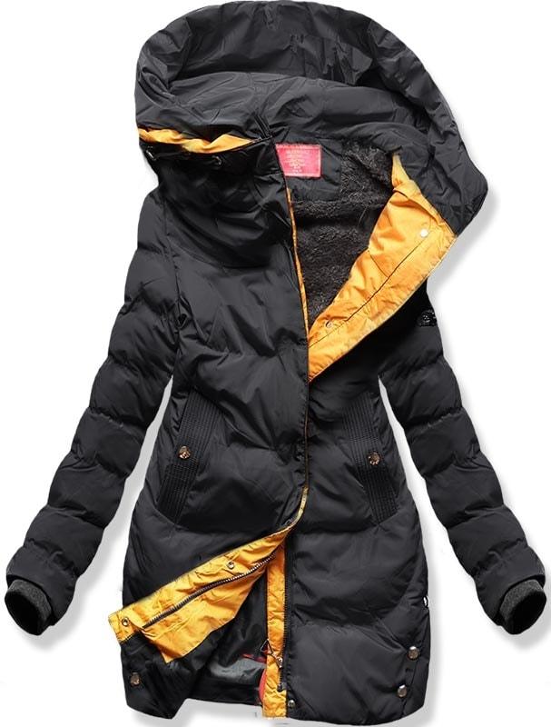 MODOVO Dámska zimná bunda M-123 čierno-hnedá