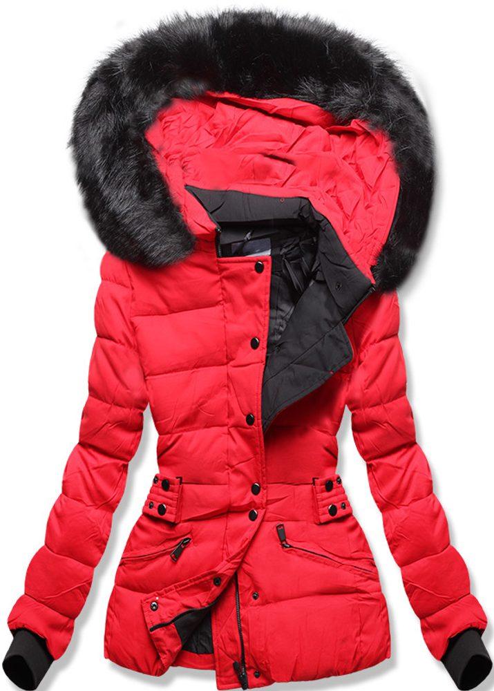 MODOVO Dámska zimná bunda s kapucňou červená - M