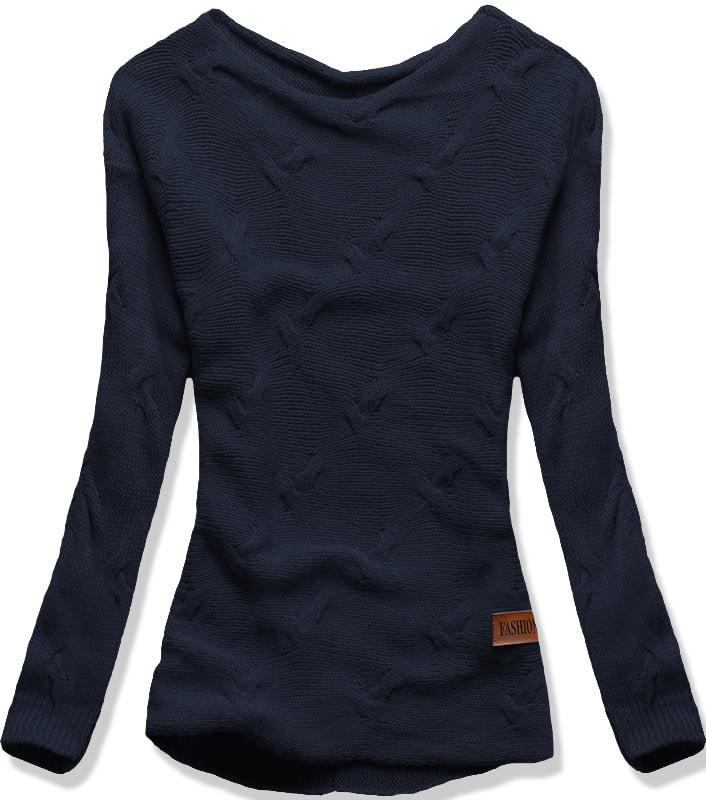 MODOVO Dámsky sveter BR01 tmavo modrý