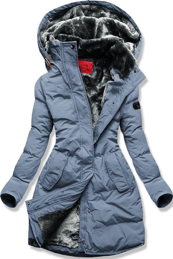 MODOVO Dámska zimná bunda sivo-modrá - XL