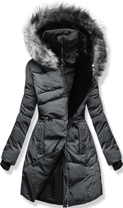 MODOVO Dámska zimná bunda s kapucňou M11 šedá