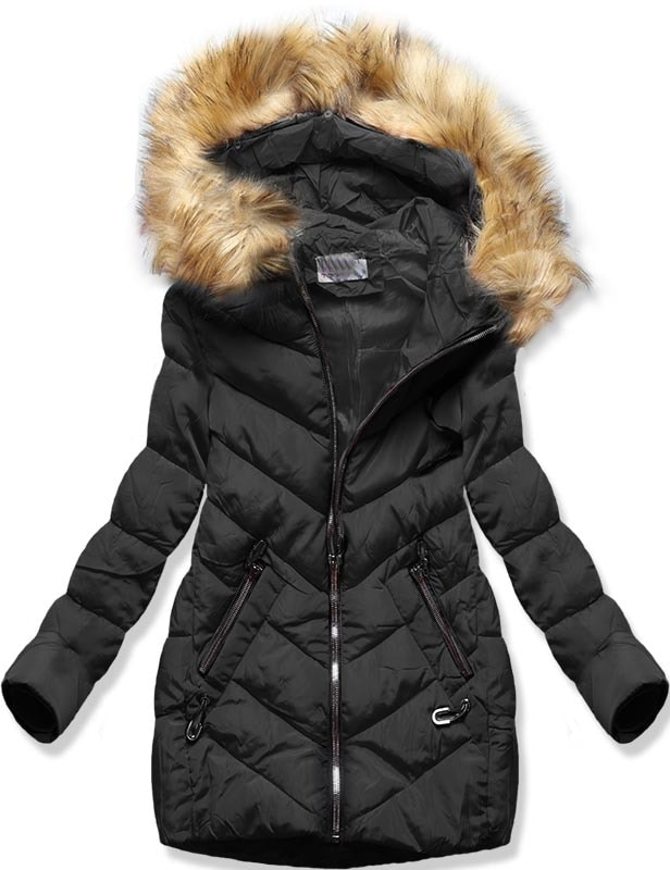 MODOVO Dámska zimná bunda B2633 čierna