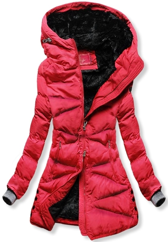 MODOVO Dámska zimná bunda S605 červená