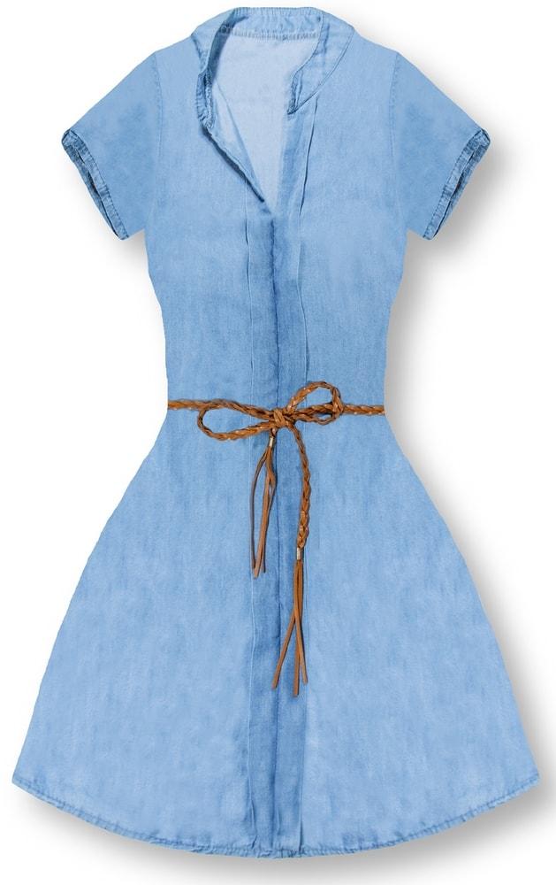 MODOVO Dámske šaty 4595 svetlo modré