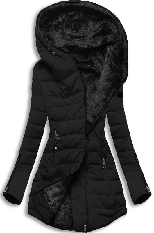MODOVO Dámska zimná bunda s kapucňou M13 čierna