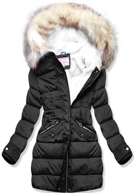 MODOVO Dámska zimná bunda W734 čierna
