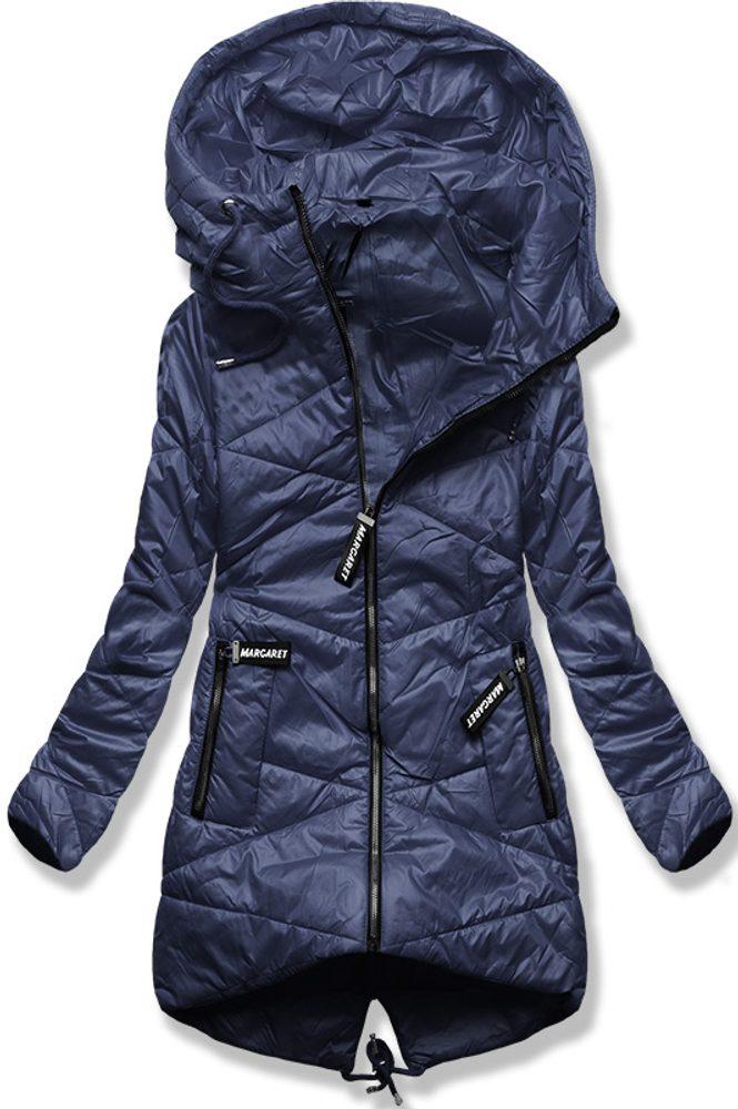 MODOVO Prešívaná bunda s kapucňou modrá - XL