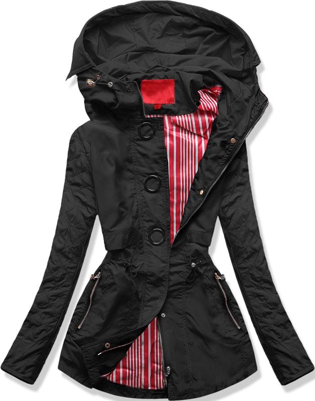 MODOVO Dámska prechodná bunda P01B čierna - M