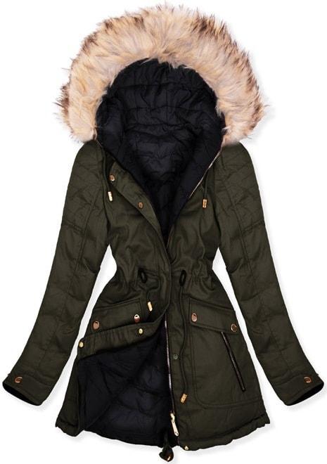 MODOVO Dámska zimná bunda W632 khaki
