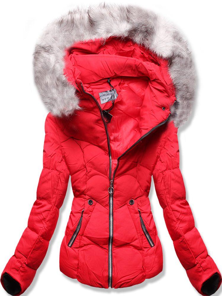MODOVO Zimná bunda s kapucňou červená - M