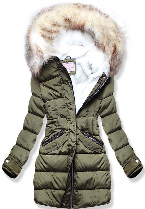 MODOVO Dámska zimná bunda W734 khaki