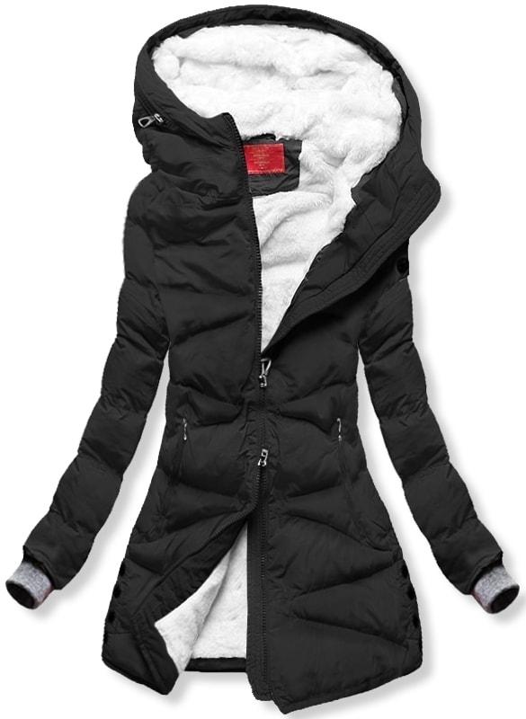 MODOVO Dámska zimná bunda S605 čierna