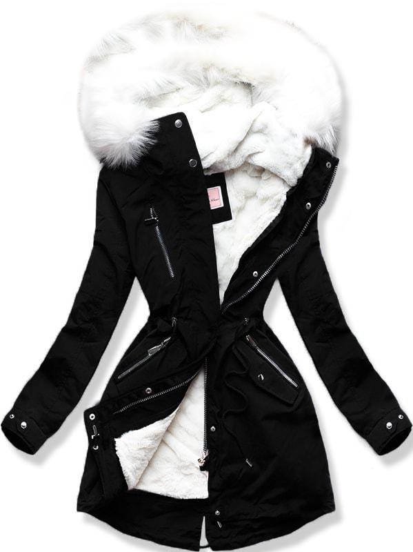 MODOVO Dámska zimná bunda W254 čierna