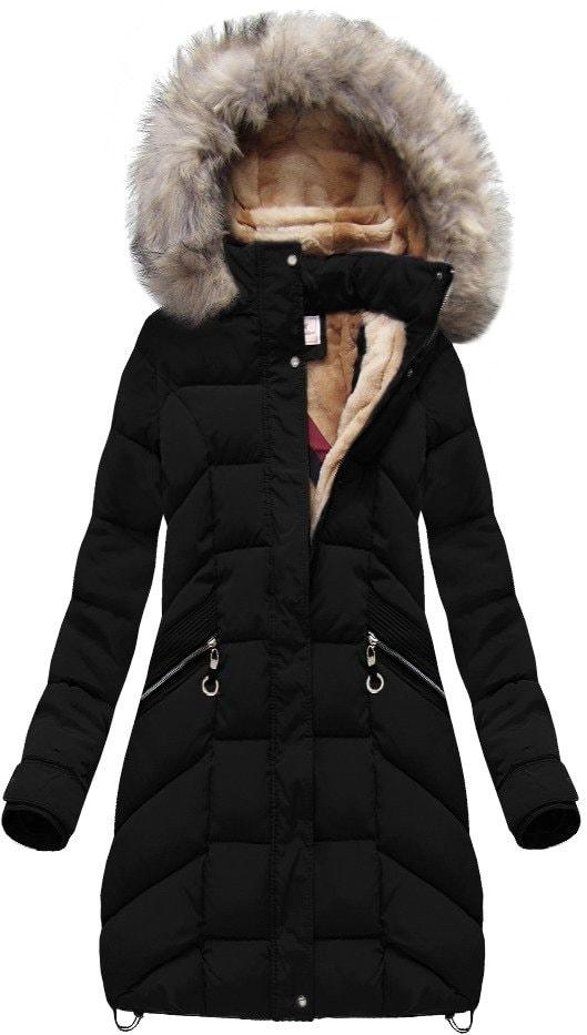 MODOVO Dámska zimná bunda W737 čierna
