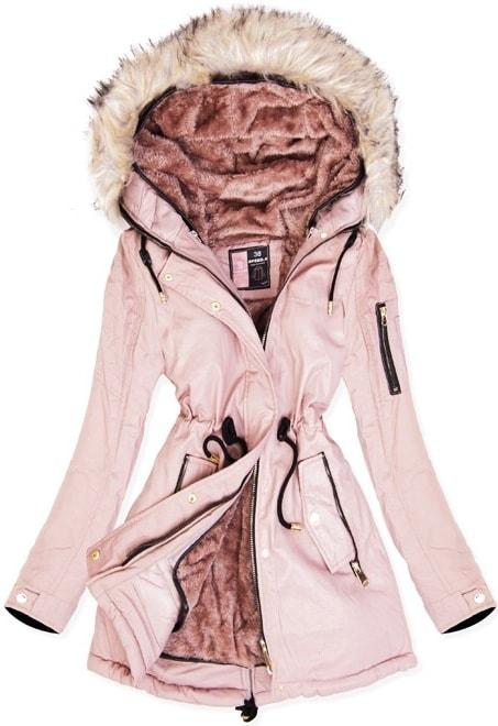 MODOVO Dámska zimná bunda W630 púdrová - S