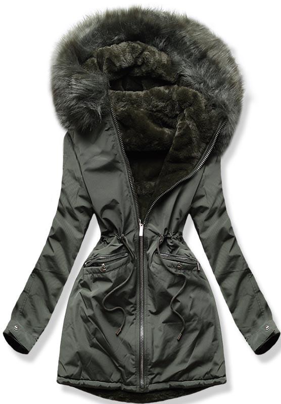 MODOVO Dámska zimná bunda W253 khaki
