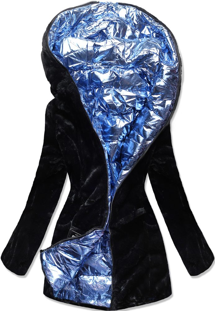 MODOVO Zimná bunda čierno-modrá - XXL