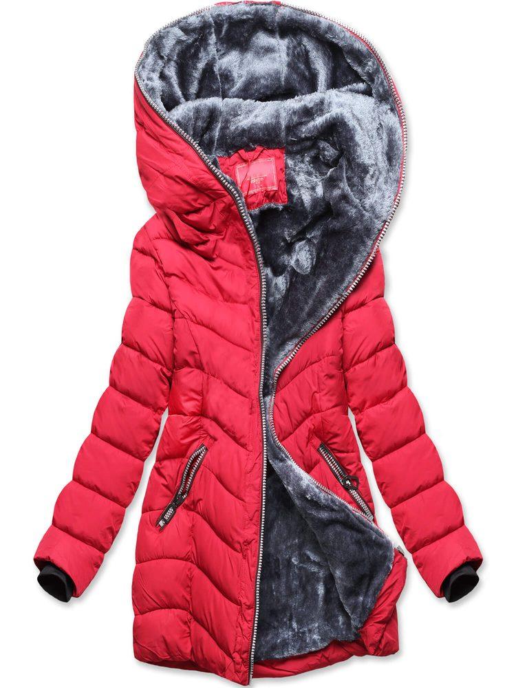 MODOVO Dámska zimná červená bunda
