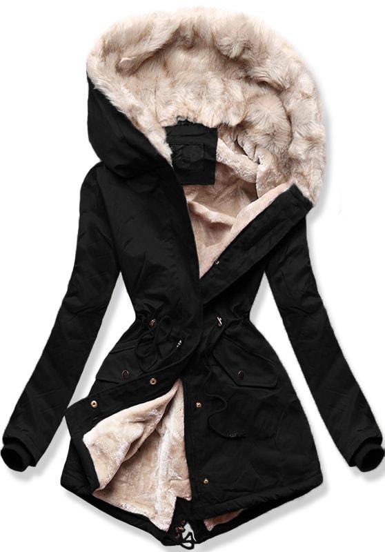 MODOVO Dámska zimná bunda B508 čierna