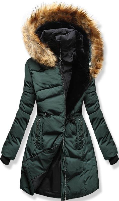 MODOVO Dámska zimná bunda s kapucňou M11 zelená - M