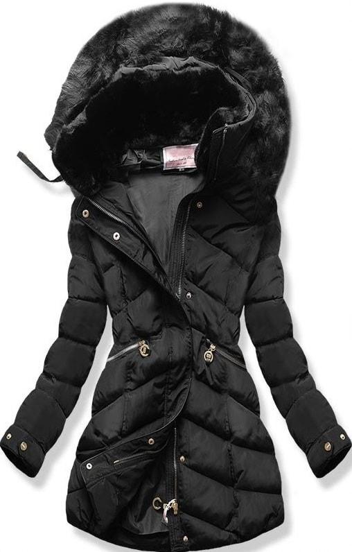 MODOVO Dámska zimná bunda s kapucňou W732 čierna
