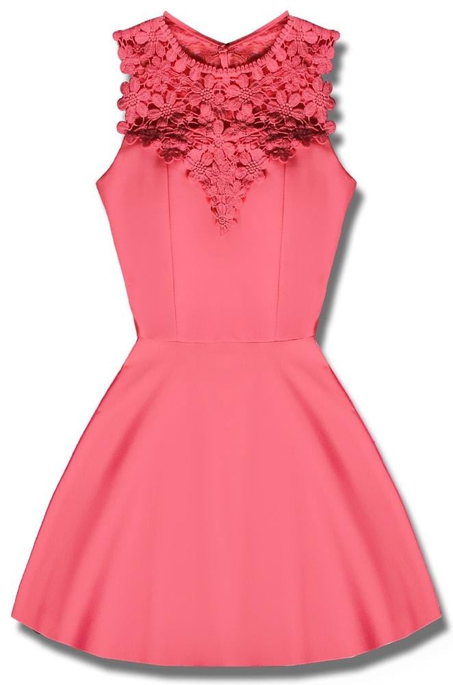 MODOVO Elegantné dámske šaty ružové