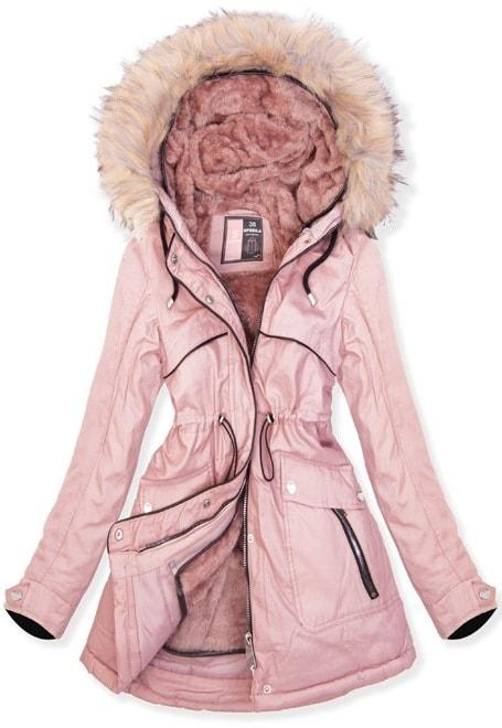 MODOVO Dámska zimná bunda W633 púdrová - S