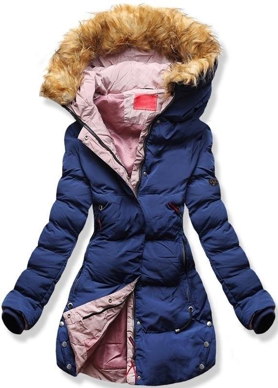 d52dc12632 Dámska zimná bunda s kapucňou M-7 tmavo modrá - Bundy - MODOVO