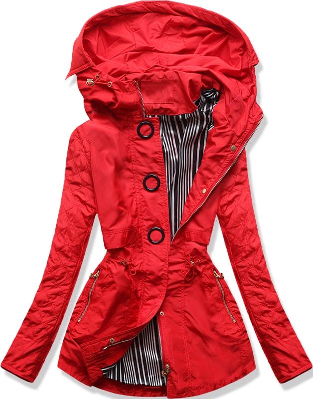 6a5c080f35ae Dámská přechodná bunda P01B červená - Bundy - MODOVO