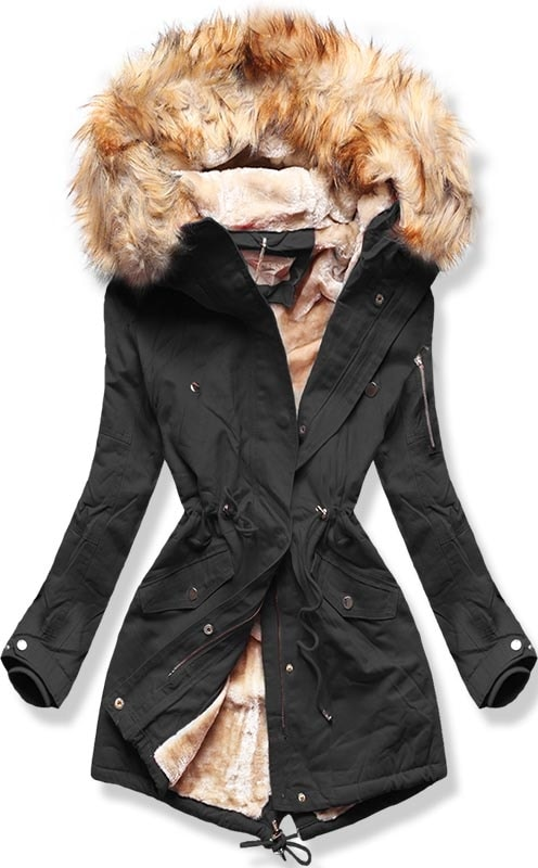 fekete női téli dzseki