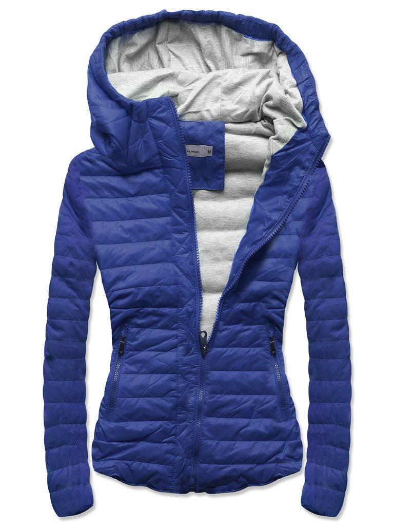 Női steppelt kabát kék