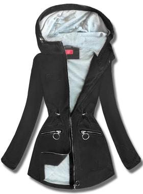 da5cfda600 Bunda QL-245 čierna Bunda QL-245 čierna Dámska prechodná bunda s kapucňou  QL… Dámska prechodná bunda s kapucňou… Dámska prechodná bunda s kapucňou  QL-245 ...