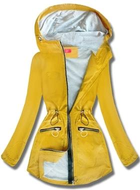 4422b25903 Kabát QL-245 sárga Kabát QL-245 sárga Női átmeneti kabát kapucnival QL-245…  Női átmeneti kabát kapucnival QL… Női átmeneti kabát kapucnival QL-245 sárga