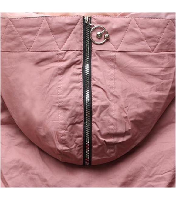 77016a05c4 Női téli kabát kapucnival B-736 púderrózsaszín-fekete - Dzsekik - MODOVO