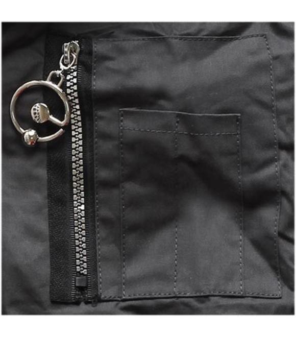 bd371af66e Női téli kabát kapucnival B-736 grafitszürke-fekete - Dzsekik - MODOVO