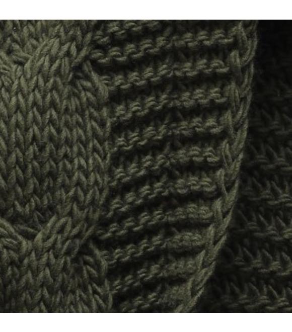 22591e1a39c2 Dámsky sveter s kapucňou SWEK khaki Dámsky sveter s kapucňou SWEK khaki