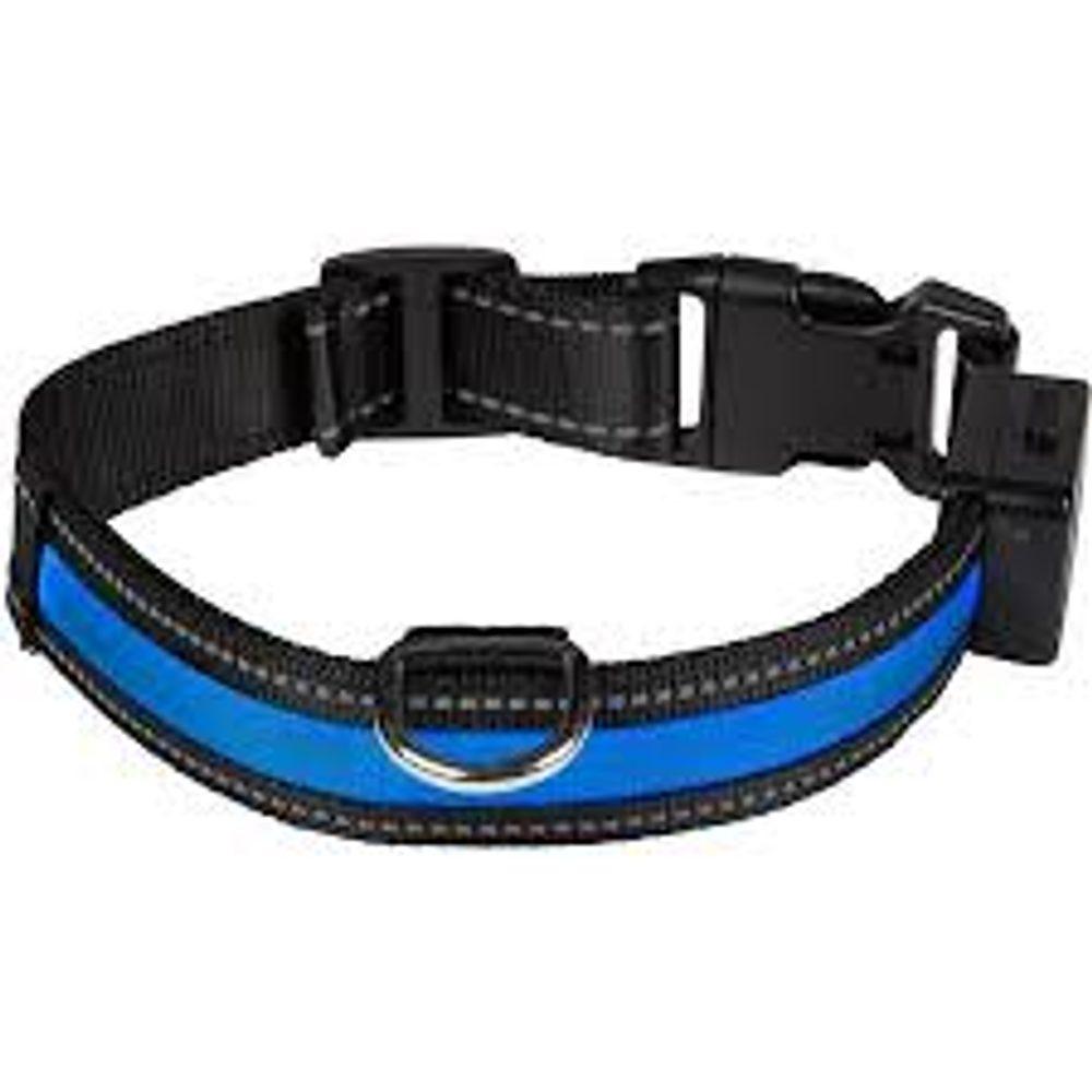BAZAR - Nabíjecí svítící obojek Eyenimal modrá M