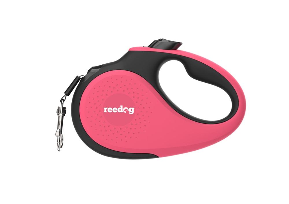 Reedog Senza Premium samonavíjecí vodítko M 25kg / 5m páska / růžové