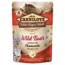 Kapsička CARNILOVE Cat Rich in Wild Boar enriched with Chamomile 85g