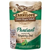 Kapsička CARNILOVE Cat Rich in Pheasant enriched with Raspberry Leaf 85g