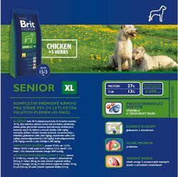 Brit Premium Dog Senior XL 15kg