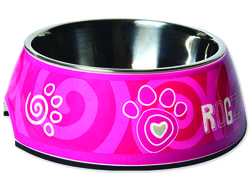 Miska ROGZ Bubble Pink Paw L 700ml