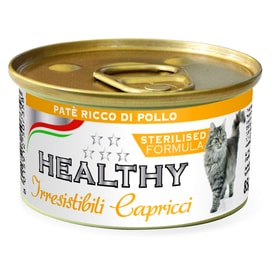 HEALTHY cat paté Sterilised s kuřetem 85 g